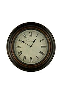"""This classic wood framed clock with rim detail and roman numerals is a subtle and timeless addition for any interior setting. The diameter is class=""""descTitle"""">Dimensions:</b><BR>Dia Wood, Home Online Shopping, Wall Clock Online, Clock, Wood Frame, Home Furniture, Decor Online, Decor Shopping Online, Mr Price Home"""