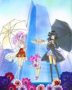 Sailor Moon ~ Rini (Sailor Chibi Moon), (Sailor) Chibi Chibi Moon, Hotaru Tomoe (Sailor Saturn)