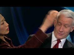 Anderson Cooper tries a schizophrenia simulator - YouTube