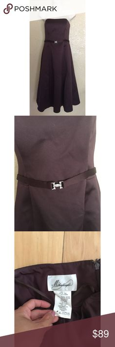 Strapless Buckled Violet Dress Condition: No defects. Size: 4 Dresses