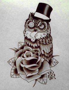 DAPPER OWL by BOXXXY87.deviantart.com on @deviantART
