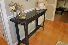Entry or console farmhouse style table