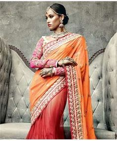 Net Saree with Blouse | I found an amazing deal at fashionandyou.com and I bet you'll love it too. Check it out!