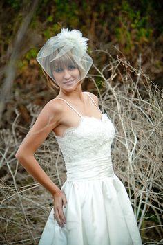 Iris - Short Wedding Dress, Beaded Lace $488.00