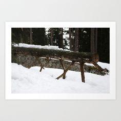 Winter log Art Print by Plasmodi - $16.00 Art Prints, Winter, Outdoor, Home Decor, Art Impressions, Winter Time, Outdoors, Decoration Home, Room Decor