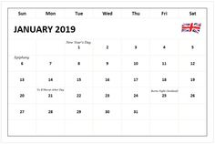 Template 8: 2018 Calendar for PDF, year at a glance, 1