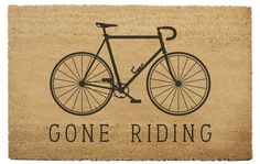 Five Cycling Themed Doormats to Welcome Your Friends… You are in the right place about Mountain biking photography Here … Cycling Memes, Cycling Quotes, Cycling Art, Cycling Jerseys, Bicycle Quotes, Mountain Bike Shoes, Mountain Biking, Bike Meme, Urban Bike