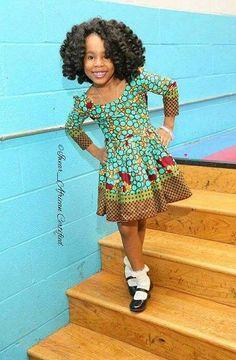Enfants Africains, Robes À Imprimés Africains, Robe Senegalaise, Mode Pagne,  Beauté Africaine