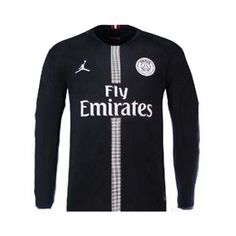 b6f6d11d863a77 18-19 PSG JORDAN 3rd Away Black Long Sleeve Soccer Jersey Shirt. With Paris