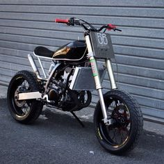 "The #DRZ400 ""Super Tracker"" by @56motorcycles of Paris. Hoon machine! #suzuki #drz400sm #tracker"