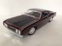Maisto 1969 Ford Torino Talladega Royal Maroon Miniture Diecast Car 1:18 EUC #Maisto #Ford