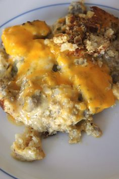 Breakfast Casserole with Sausage Gravy: Savory Sweet and Satsifying