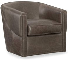 online shopping for Hooker Furniture Bonnie Leather Swivel Club Chair Paradigm Graphite from top store. See new offer for Hooker Furniture Bonnie Leather Swivel Club Chair Paradigm Graphite Swivel Club Chairs, Swivel Barrel Chair, Upholstered Dining Chairs, Chair Upholstery, Leather Swivel Chair, Leather Club Chairs, Leather Sofa, Hooker Furniture, Bedroom Furniture