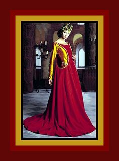 Beautiful Queen of Camelot-Medieval Designer Gown Costume Sewing Pattern-Two Styles-Sideless Surcote-Train-Size 16-20-Uncut -Rare by FarfallaDesignStudio on Etsy