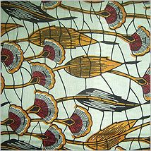 Beautiful fabric from Babatunde in Johannesburg