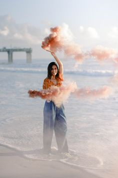 Beach Shoot, Beach Poses, Smoke Bomb Photography, Photography Ideas, Beach Sessions, Senior Photos, Strand, Photoshoot, Celebrities