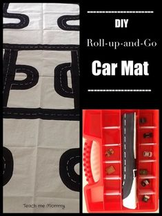This DIY Roll-Up-And-Go Car Mat is an awesome and simple homemade gift to give your speed-chasing child! They can use their toys to get creative by adding a town, bridges, and ramps for their Hot Wheels Cars! Play Based Learning, Learning Through Play, Learning Tools, Kids Learning, Diy For Kids, Gifts For Kids, Transportation Activities, Go Car, Craft Activities For Kids