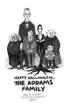 charles addams cartoons | Charles Addams Fan-Art by iparabola
