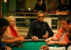 Jeff Goldblum playing poker with Riley Steele (life ... finds ... ... a way!)