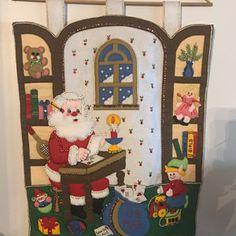 Bucilla Must Be Santa Felt Christmas Advent Calendar Kit Felt Stocking Kit, Christmas Stocking Kits, Felt Christmas Stockings, Felt Christmas Ornaments, Christmas Night, Christmas Home, Greeting Card Holder, Christmas Express, Christmas Wall Hangings