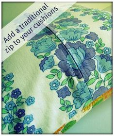 The Haby Goddess: Tutorial: Adding a traditional zip to cushion cover