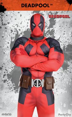Transform yourself into the merc with a mouth with Deadpool costumes from Party City! Dress as your favorite antihero with essentials like his signature red jump suit, mask and gloves. Mix and match your unique look or grab an all in one costume!