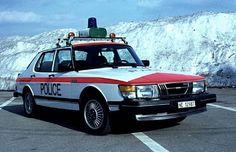 Saab Classic 900 police car by navarzo4, via Flickr