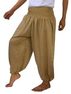 Genuine Cotton Rayon Harem Genie Yoga Pants Aladdin Hippie Baggy Trousers -- More info could be found at the image url.(This is an Amazon affiliate link and I receive a commission for the sales)