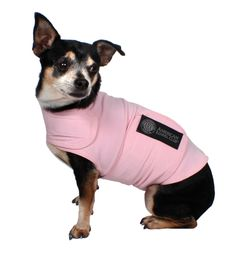 I look pretty & calm in my pink #AKC #CalmingCoat, don't ya think?! #PetAnxiety