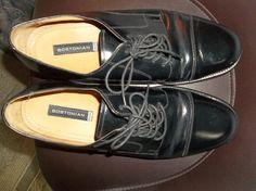 BOSTONIAN CAP TOE BLACK OXFORD MEN S SHOES SIZE-11.5M  fashion  clothing   463f1673500a