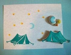 Camping Tent Stamp Set van EnchantingStamps op Etsy, $22.00