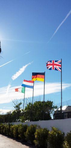 #Bandera #flag #drapeau #Flagge #bandiera #vlag Camping Europe, Flag, Science, Flags