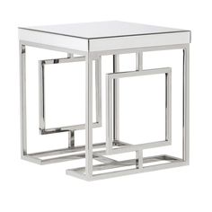 This exquisite, Elysium Mirrored Side Table is brilliant for adding a decorative touch to any space. A modern spin on the iconic, art deco style, the superb des