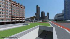 Groothandelsgebouw, Delftse Poort, Weena, Rotterdam in Minecraft