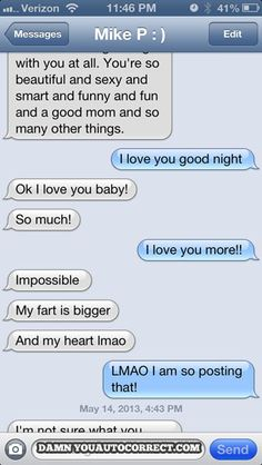 funny auto-correct texts - His Is Bigger