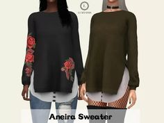 Aneira Sweater - The Sims 4 Download - SimsDom RU