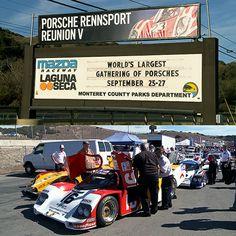 Rennfahrerlegenden beim #Porsche #Rennsport #ReunionPartV #PorscheReunion #MegaEvent #LagunaSecaRaceway #RacewayUSA #neuwagen #porscherennsport