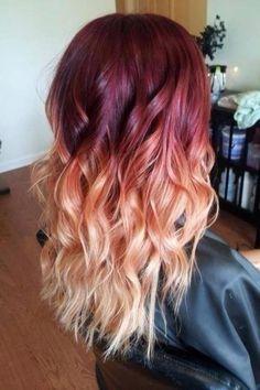 Tie & Dye sur cheveux rouges juste trop beau .