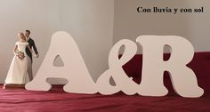 Decoración infantil personalizada y letras decorativas: LETRAS DE MADERA PARA LA BODA DE ÁNGELA