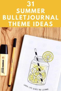 31 Summer Bullet Journal Ideas - I have compiled a giant list of Summer bullet journal theme ideas that you are going to love! From camping, plants and ocean to summer in the city and lemons. Click to read more. Bullet Journal For Beginners, January Bullet Journal, Bullet Journal Monthly Spread, Bullet Journal How To Start A, Bullet Journal Themes, Bullet Journal Layout, Bullet Journal Inspiration, Bullet Journals, Journal Ideas