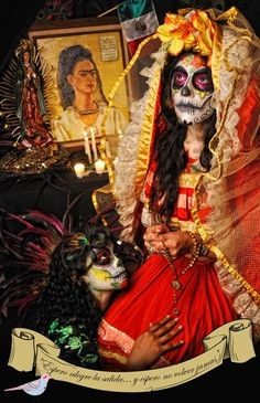 CATRINA by claudette canale (Frida shrine)