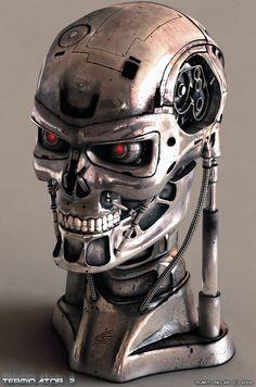 Terminator Head  3Dmax