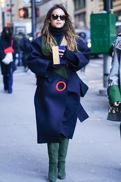 Catch Up on All of NYFW's Best Street Style From Last Season Day 4 Miroslava Duma