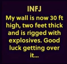 Dont mistake this for who an INFJ actually is inside. Intj And Infj, Infj Mbti, Infj Type, Isfj, Infj Door Slam, Myers Briggs Infj, Psychology Memes, Introvert Problems, Infj Personality