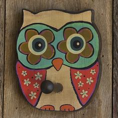 Owl Wooden Wall Hook