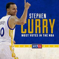 IT'S OFFICIAL! With the most votes in the NBA, Stephen Curry will start the 2015 #NBAAllStar Game. #DubNation