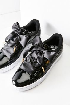 Puma // Basket Heart Patent Leather Sneaker...
