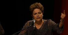 Em festa do PT, Dilma diz que país tem de ter 'orgulho' da Petrobras ESSA MULHER E UMA CANALHA DE CARTERINHA