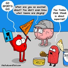 Heart, Brain and Tongue prepare for a major sporting event