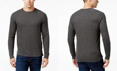 Club Room Men's Waffle-Knit Thermal Shirt, Only at Macy's - T-Shirts - Men - Macy's